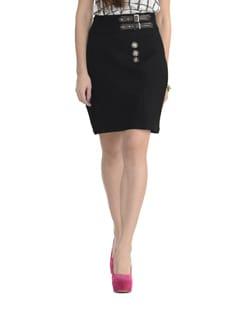 Black Woollen Skirt - MARTINI