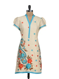Paisley-Floral Embroidered Delight - STRI
