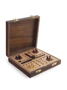 Wooden Ludo Board Game - PRAKRUTI