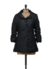 Smart Black Quilted Jacket - VOILE