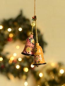 Handpainted Decorative Bells- Set Of 2 - Ambbi Collections