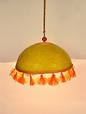 Dome Shape Tussle Hanging Ceiling Lamp - ExclusiveLane