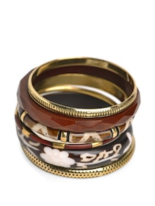 Set Of Earthy Toned Bangles - Accessory Bug