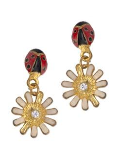 Beetle Flower Earring - Blend Fashion Accessories