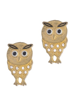 Studded Owl Earrings - Blend Fashion Accessories