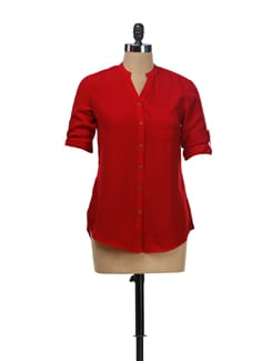 Lipstick Red Shirt - NUN