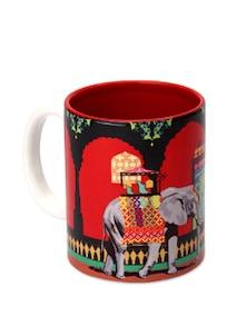 Ceramic Mug With Mughal Elephant - The Elephant Company