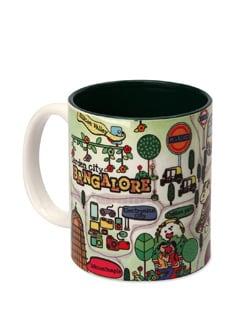 Mug Ceramic Bengaluru Maps - The Elephant Company