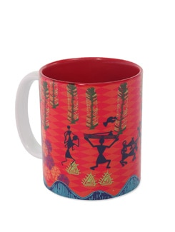 Ceramic Mug Modern Warli - The Elephant Company