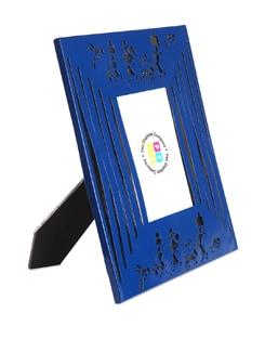 Blue Photo Frame Modern Warli - The Elephant Company