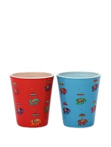 Shot Glasses Red & Turquoise Flying Elephant - The Elephant Company