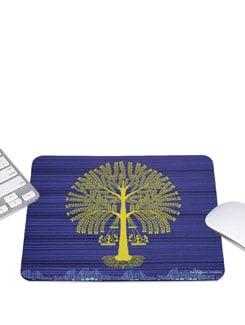 Blue Mousepad Tree Warli - The Elephant Company