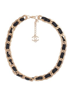 Black Lace And Metal Braided Necklace - YOUSHINE