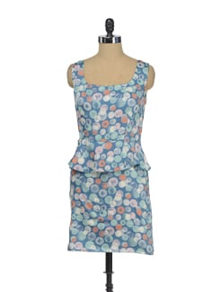 Printed Peplum Dress - I KNOW By Timsy & Siddhartha