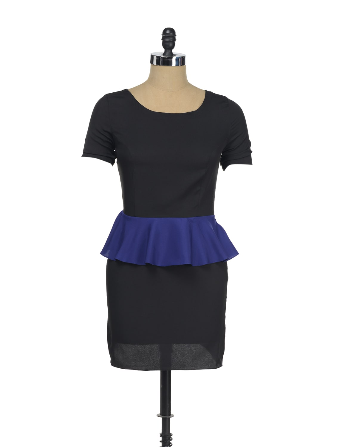 Black Dress With Violet Peplum - I KNOW By Timsy & Siddhartha