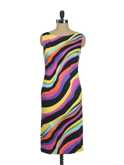 Multi Coloured Striped Dress - I KNOW By Timsy & Siddhartha
