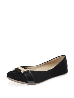 Trendy Black & Gold Ballerinas - MARIE SOFT
