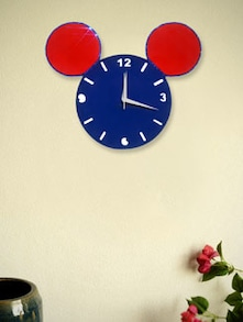 Blue And Red Mickey Face Wall Clock - Zeeshaan