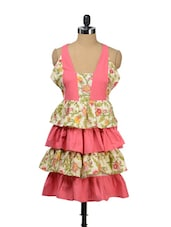 Floral Pink Tiered Apron - Morning Blossom