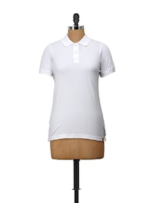 Classic White Polo T-Shirt - Campus Sutra