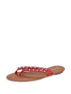 Double Strapped Red Sandals - K22