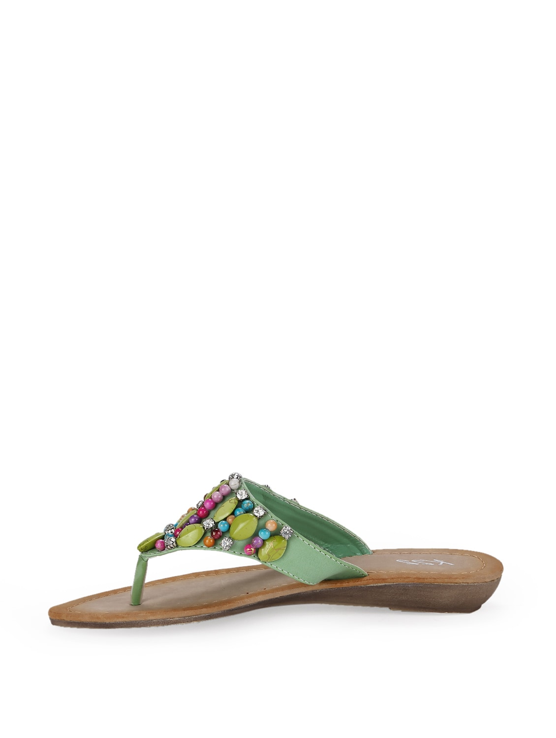 804a573f4 Buy Mint Green Beaded Sandals for Women from K22 for ₹499 at 0% off ...