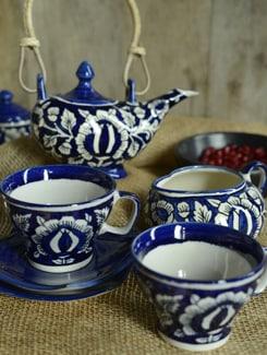 Mughal Morning Tea Set (Set Of 7pcs) - Cultural Concepts
