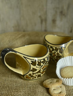 Heritage Curved Mugs- Set Of 2 - Cultural Concepts
