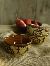 Warli Desert Bowls - Set Of 6 - Cultural Concepts