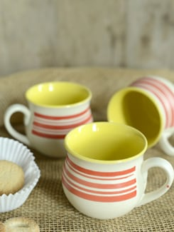 Striped Prince Coffee Mugs- Set Of 6 - Cultural Concepts