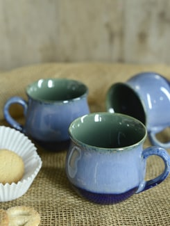 Studio Prince Coffee Mugs -Blue& Green -Set Of 6 - Cultural Concepts