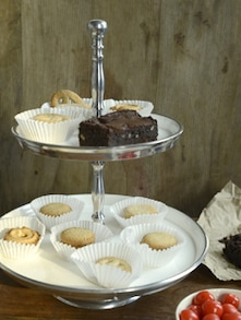 Two Tier Snacks Or Cupcake Stand - Cultural Concepts
