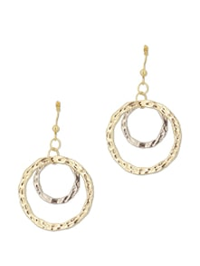 Overlapping Gold Earrings - Flaunt