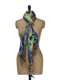 Bright Abstract Print Scarf - J STYLE