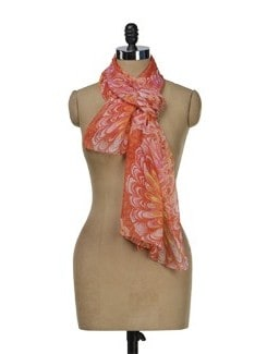 Floral Print Scarf - J STYLE