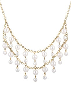 Pearl Accented Gold Necklace - THE PARI