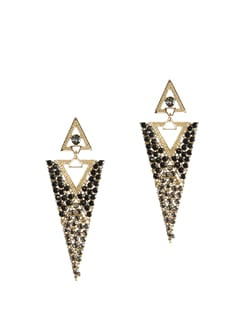 Black & Gold Statement Earrings - CIRCUZZ