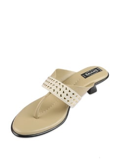 White Studded Sandals - Balujas