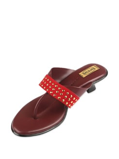 Red Studded Sandals - Balujas