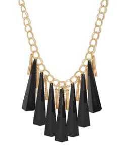Vintage Black Geometric Necklace - Miss Chase