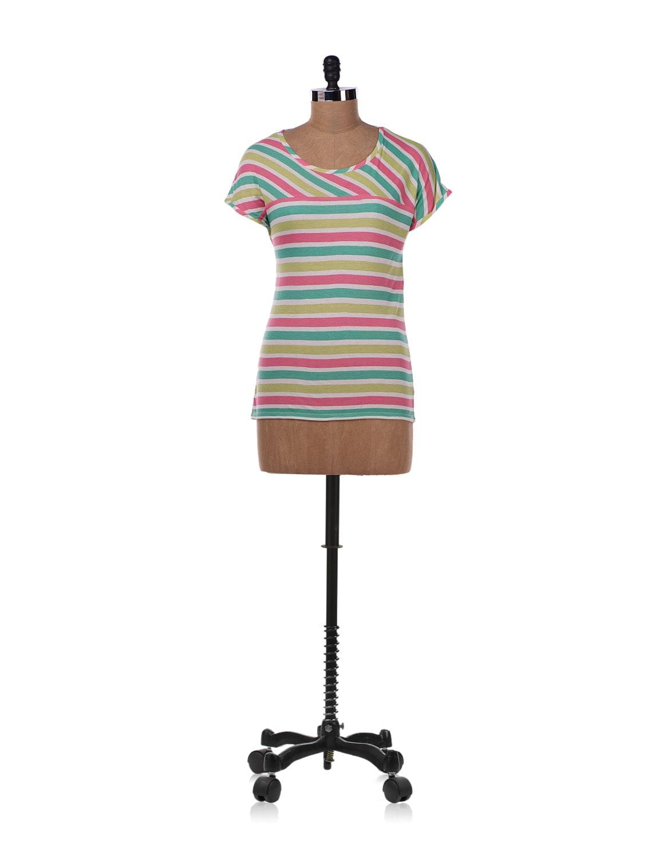 Multicolored Striped Top - Allen Solly