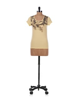 Yellow Pleated Top - Allen Solly