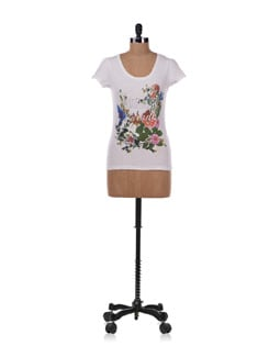 White Floral Top - Allen Solly