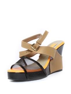 Ankle Strap Mesh Wedges - ZAERA