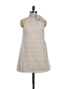 Floral Print High Neck Dress - Meira