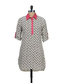 Printed Cotton Kurta - Meira