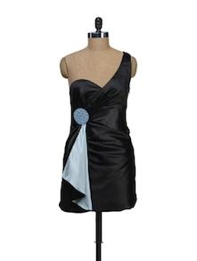 Black One Shoulder Dress - Schwof
