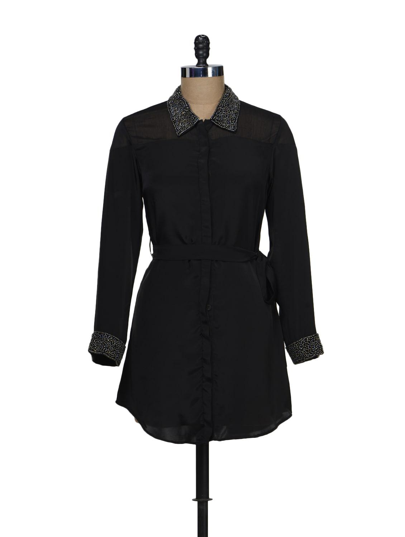 Black  Shirt Dress - Schwof