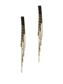 Chic Black & Gold Colette Earrings - Blissdrizzle