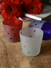 Dotted Tea-light Holders- Set Of 3 - Ambbi Collections